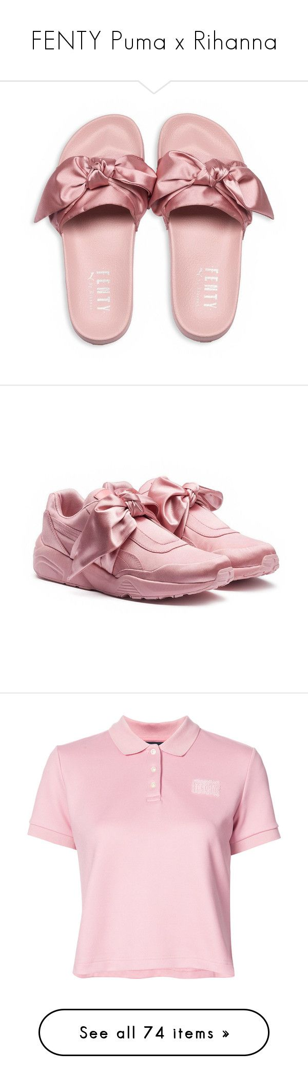 """""""FENTY Puma x Rihanna"""" by italica1992 ❤ liked on Polyvore featuring shoes, sandals, flats, puma shoes, puma sandals, puma flats, flat pump shoes, flat pumps, sneakers and puma sneakers"""