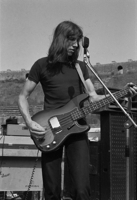"more-relics: ""Roger Waters  Pink Floyd, live at Pompeï in 1971, (by Jacques Boumendil) """
