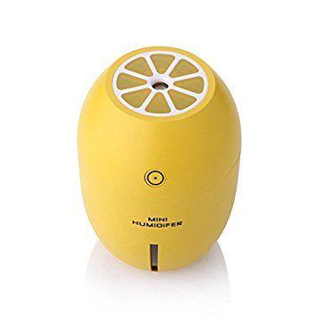 FIVE 0 EIGHT Ultrasonic USB Humidifier Portable Mini Lemon Night Light 180ML Cool Mist Car Air Purifier Steam Diffuser (Yellow)