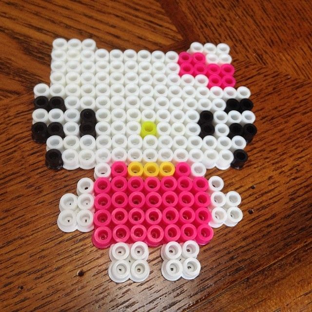 Hello Kitty perler beads by kawaii_.girl