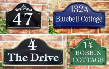 House Signs & Plaques - Personalized House Names, House Numbers & Address Plates