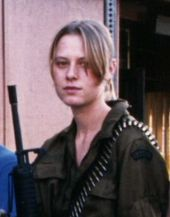"""Domino Harvey, bounty hunter. Inspiration for the motion picture """"Domino""""."""