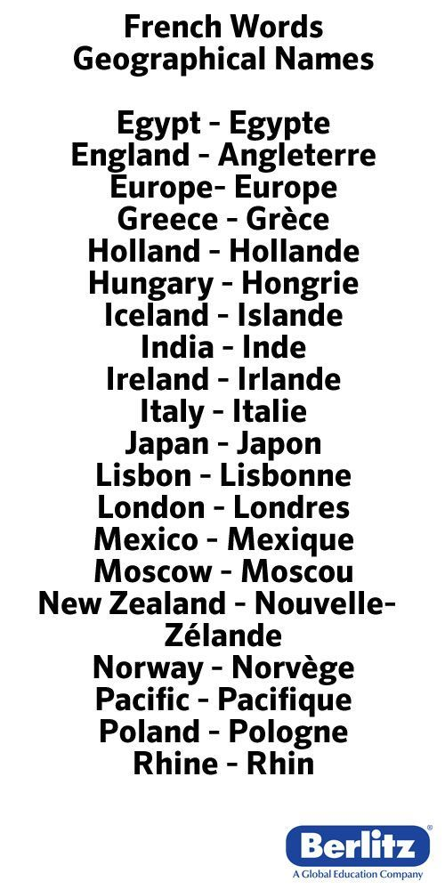 French geographical names
