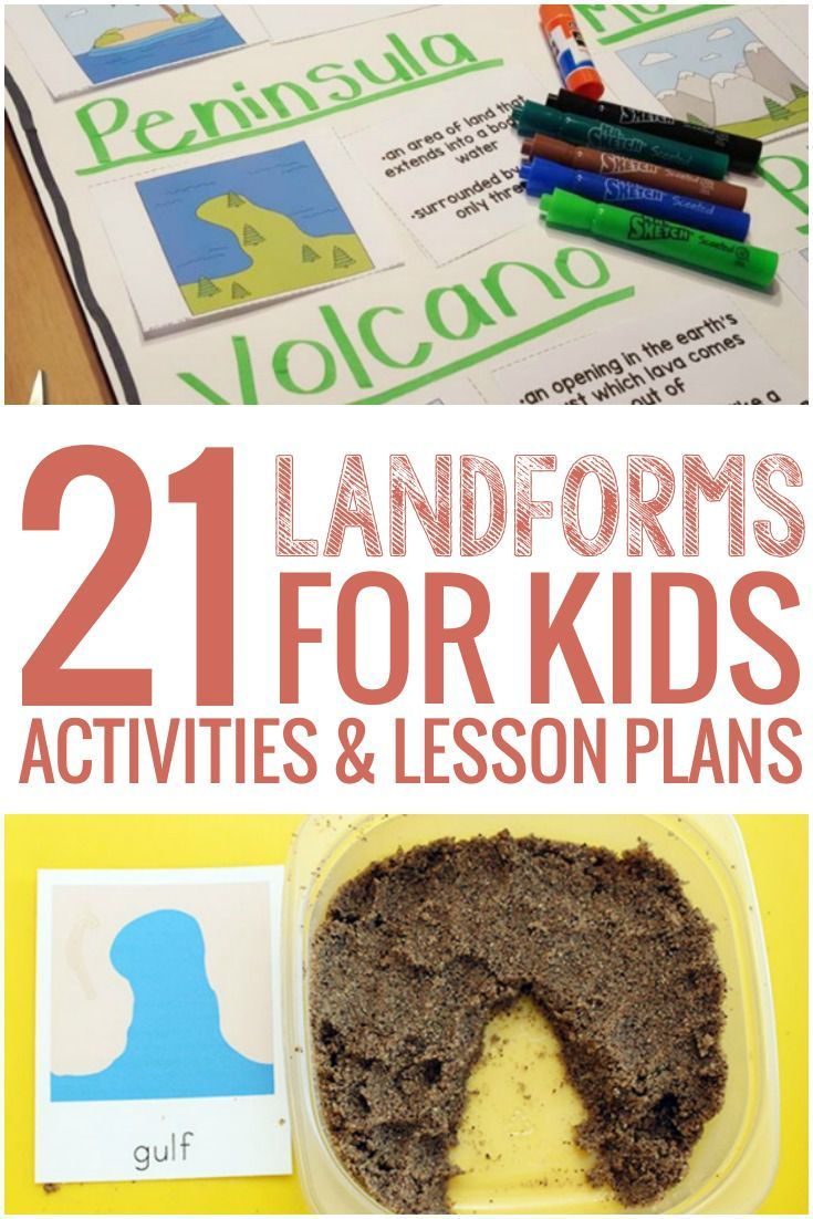 We don't normally teach landforms in kindergarten, but I love the hands on ideas in this list of 21 Landforms for Kids Activities and Lesson Plans