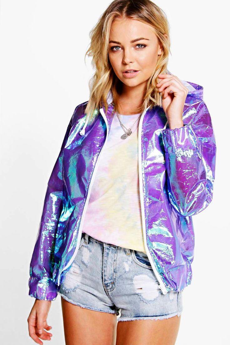 Alisha Holographic Festival Bomber | Holographic jacket ...
