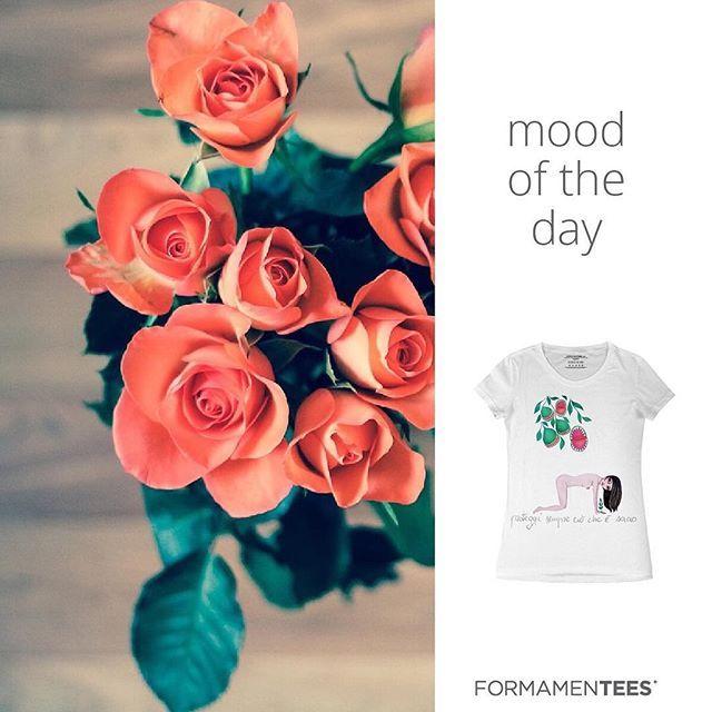 Do you feel romantic? #moodoftheday #flowers #love #pretty #fashionpost #cute #tshirt #bestoftheday #girl #style