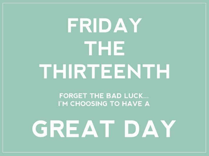 Pin by Mel' Harris on Holidays | Happy friday the 13th, Happy