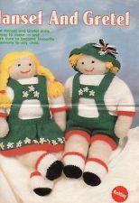 Vintage Toy/Doll knitting pattern Hansel & Gretel dolls in dk for sale in my shop - dollie.daydreams