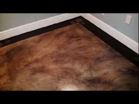 Painted Basement Floor - Faux Finish