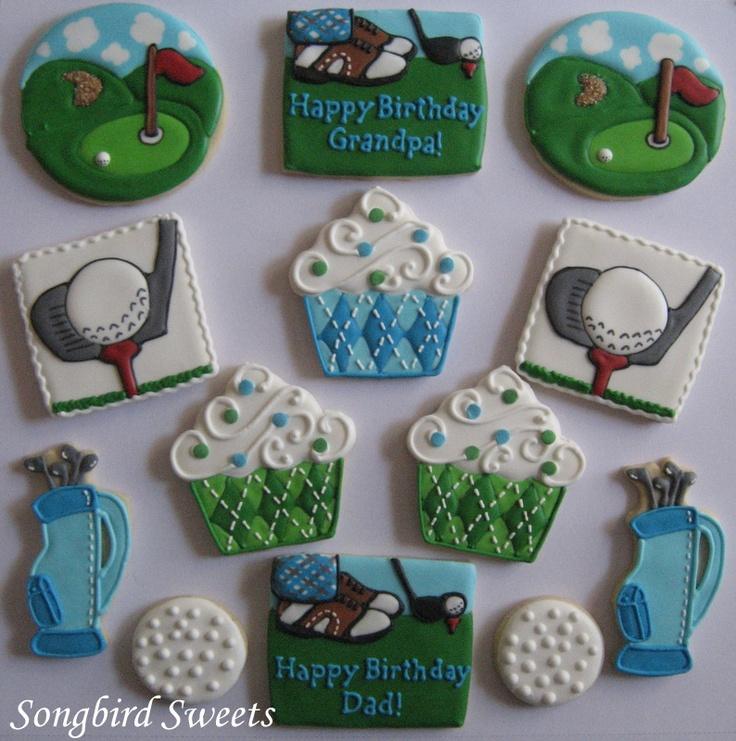 Golf Themed Birthday Platter