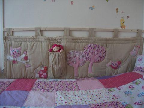 Blomm - Baglyos falvédő kislány szobába, Baba-mama-gyerek, Dekoráció, Gyerekszoba, Falvédő, takaró, #bumper #owl