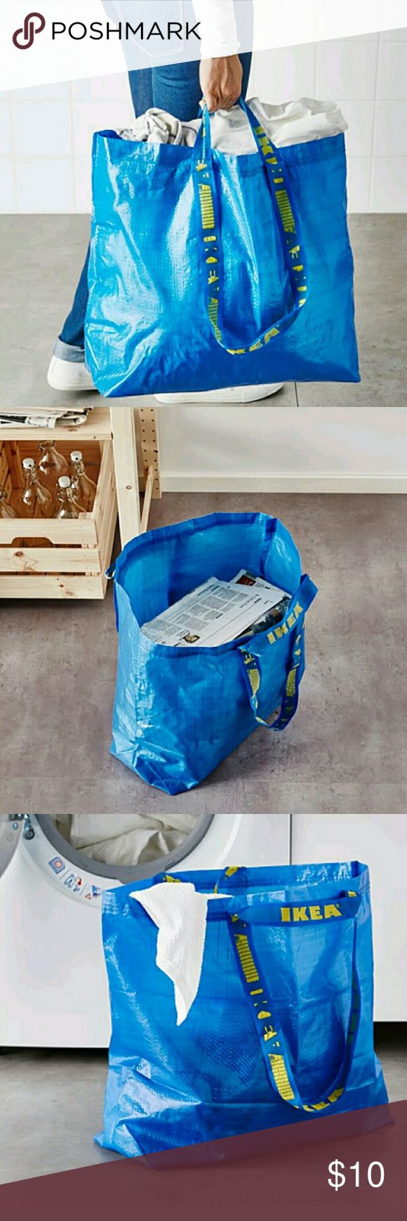 X6 10 Gallon Medium Grocery Shopping Bags 17.75 in x 17.75 in x 7 in   As with any tote bag, these dimensions will expand while shortening the other dimensions.  Features include:  2 sets of handles, one for the shoulder & one for the hand  55 pound maximum load  Medium 10 gallon capacity  Easy to clean, just rinse and dry  Suitable for recycling  Made of 100% polypropylene  Very strong and reusable which is great for the environment   All items come from a smoke free and pet free…