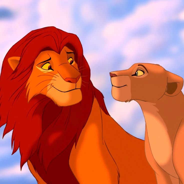 Simba and Nala from lion king - one of Disney's best movies and a personal favorite of my brothers.