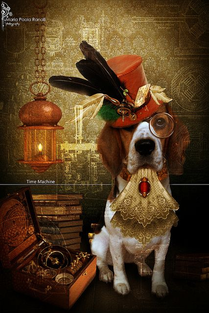 Steampunk beagle