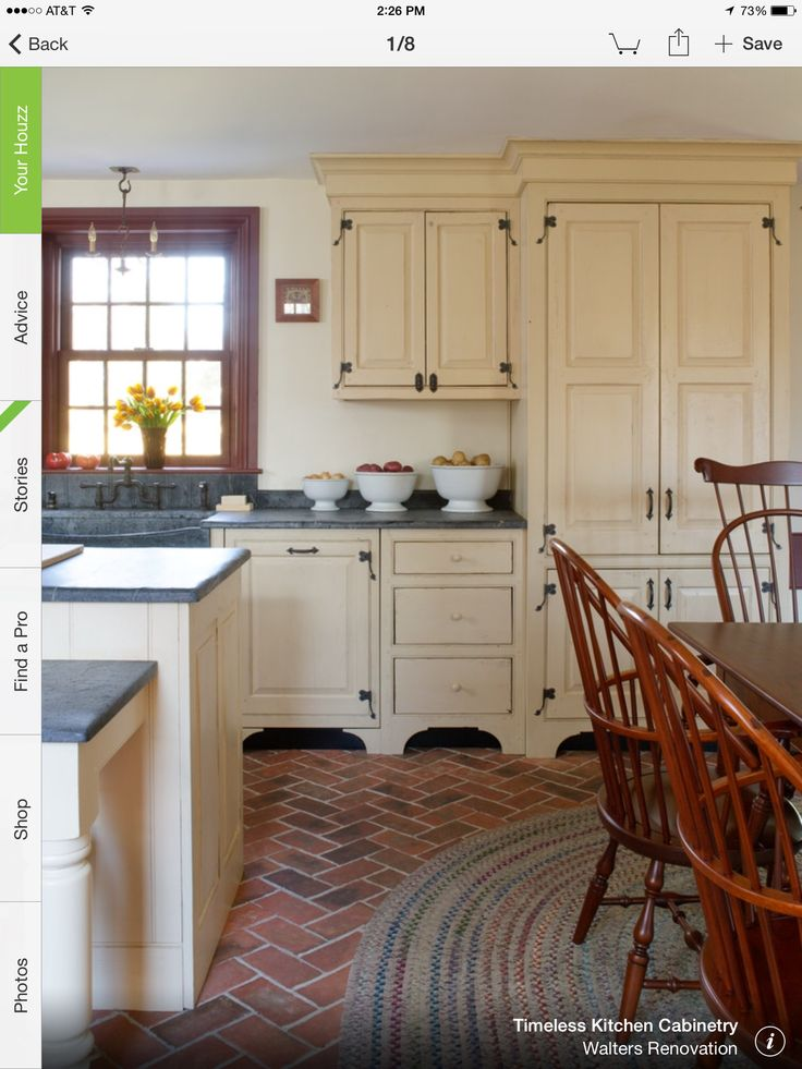 1841 best images about colonial to primitive on pinterest for Colonial style kitchen cabinets