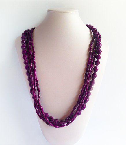 Sanura - Afri Beads Purple | Indigo Heart - Fair Trade Fashion A$39.50