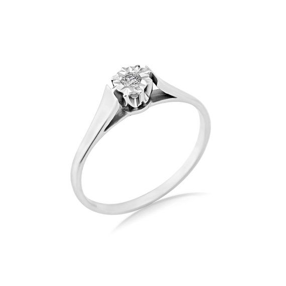 Starlight Solitaire Diamond Engagement Ring Solitaire by ArahJames