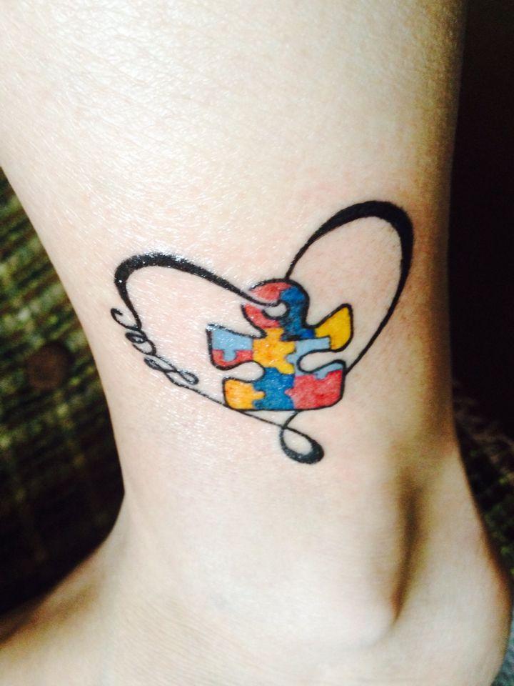 My new tattoo! #zac #autismawareness #love