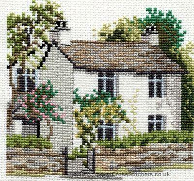 Dove Cottage Cross Stitch Kit from Derwentwater Designs