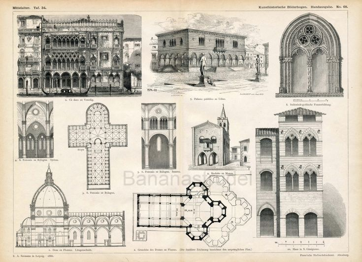 Medieval Architecture Drawing 7206877