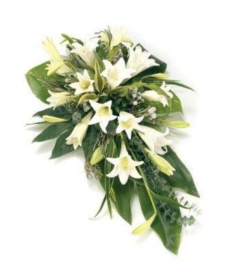 Palma de flores funeraria