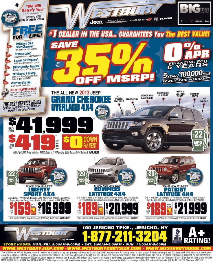 Best Our Deals Images On Pinterest Jeeps Islands And Long - Chrysler dealer long island ny