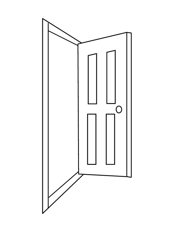 Line Drawing Door : Baa is for baab door باب arabic alphabets crafts
