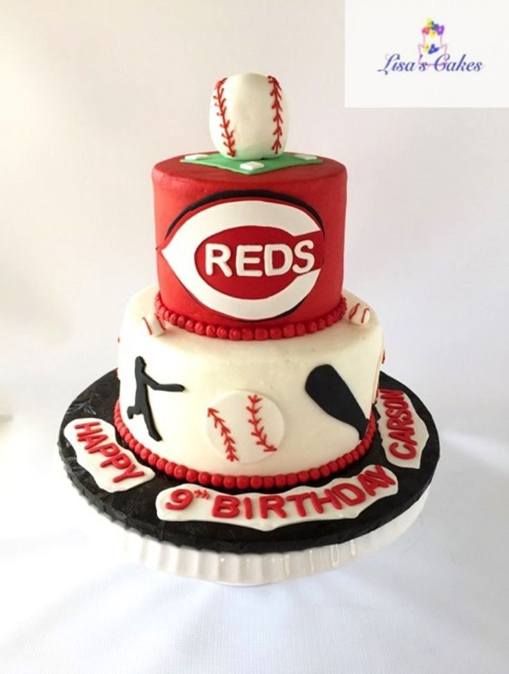 Cincinnati Reds Baseball Birthday Cake on Cake Central
