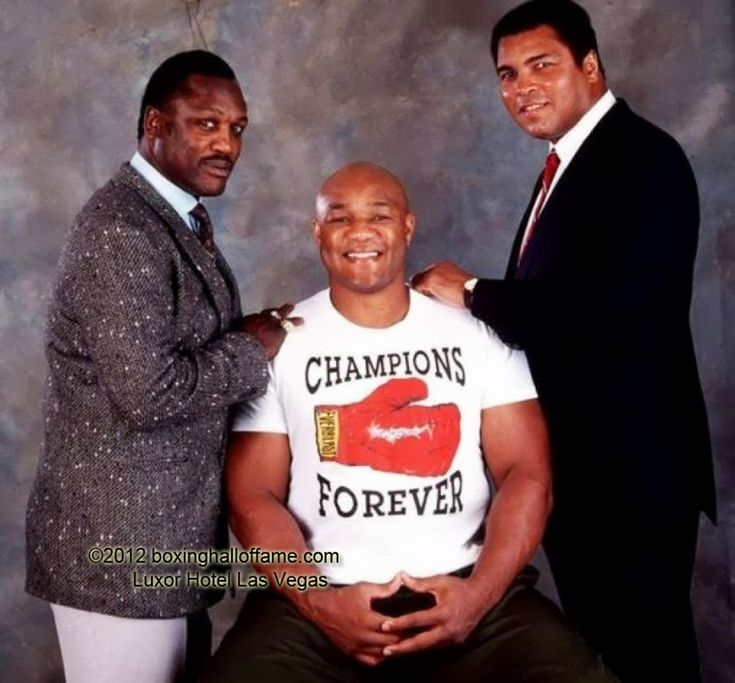 Frazier, Foreman and Muhammad Ali