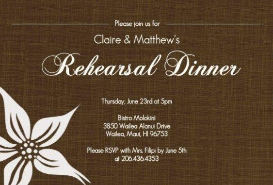 rehearsal dinner invitation wording