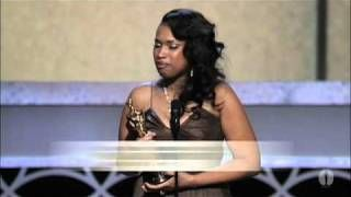 Jennifer Hudson receiving the Oscar after told on American Idol, Not good enough