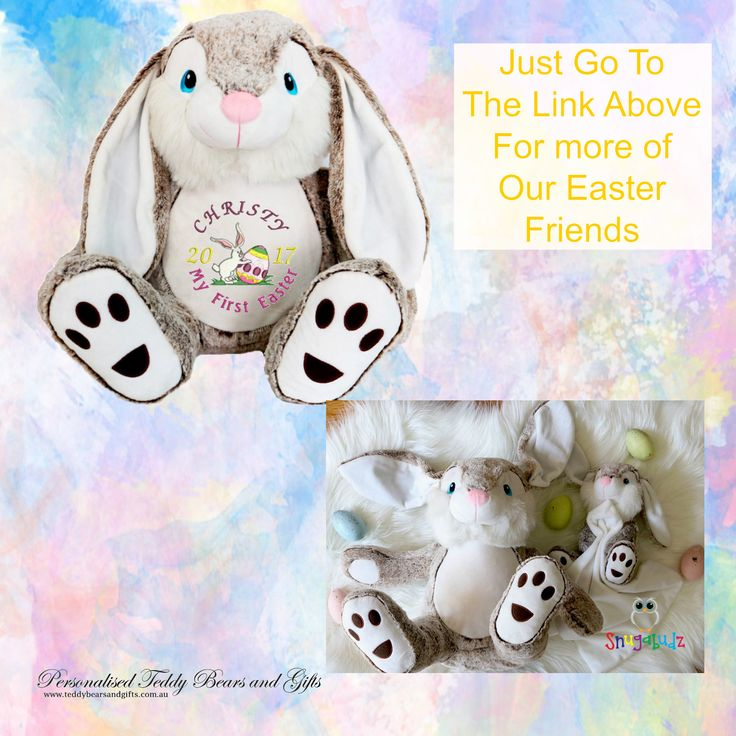 Personalised Teddy Bears and Gifts loves Easter. That's why we have a range of very special Easter Gifts to please any taste and age group.  Browse around to find some lovely gift ideas for each member of the family.  Plus there are very few calories in any of our beautiful gifts http://teddybearsandgifts.com.au/easter-gifts/
