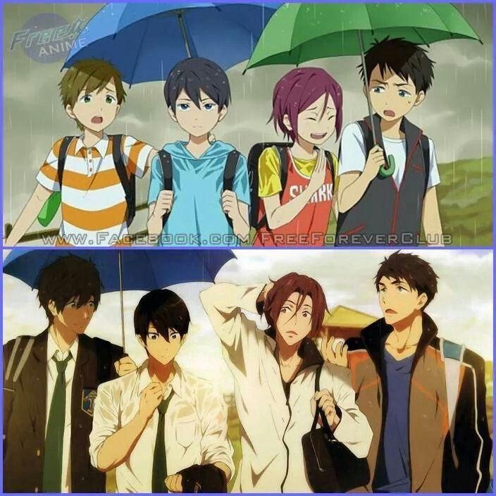 Makoto, Haru, Rin and Sousuke. They are so cute (♡゚▽゚♡)