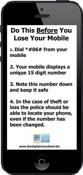 Do this before you lose your cell phone!!