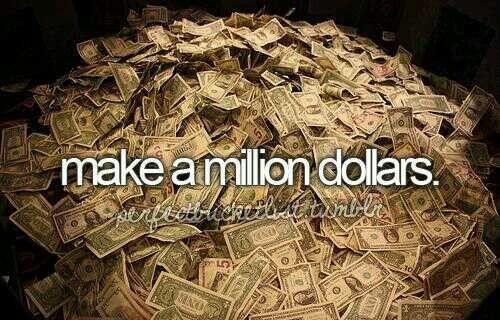 """""""Guadagnare un milione di dollari"""" #Money #Dollars #Million #ToDoList"""