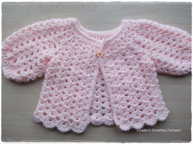 preemie washcloths crochet Shell Sweater and Hat ...