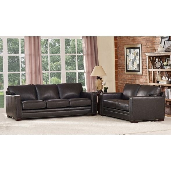 Florence Leather Sofa and Loveseat Set