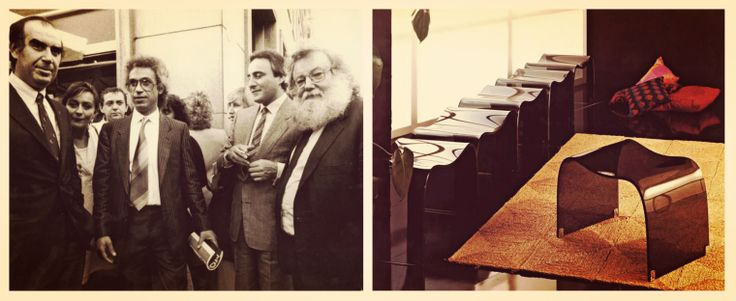 Presentation of Fiam collection, CENTRODOMUS Milano, 1985. #Fiam #Centrodomus  #VittorioLivi #madeinitaly #furniture #glass #interiordesign #design www.fiamitalia.it/