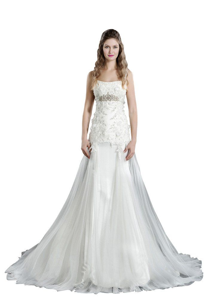 COLOREDRESS Mermaid Spaghetti Straps Wedding Dress Bridal Gown Size 18plus,Color Ivory. Material:Organza,lace and Satin. Built in Bra,11-16 Fishbones,14cm Width Secure Belt,Zipper or Lace up Back Freely. This dress is Made-To-Order.We will contact you by send you e-mail from Amazon to confirm your detailed measurements before we start to tailor the dress,please reply us asap.The fast reply will help you receive the dress earlier. The shooting light and setting of your computer screen may...