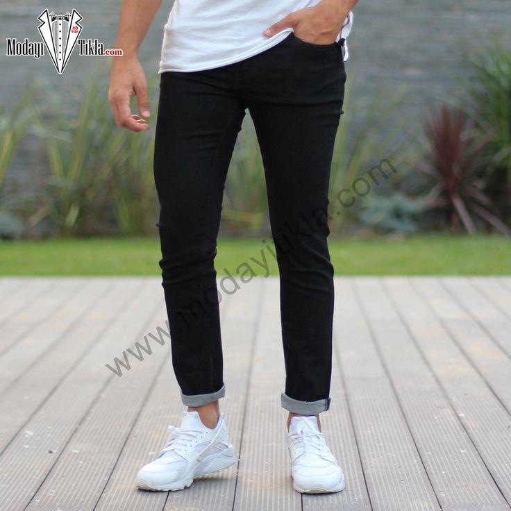 Düz Siyah Jeans