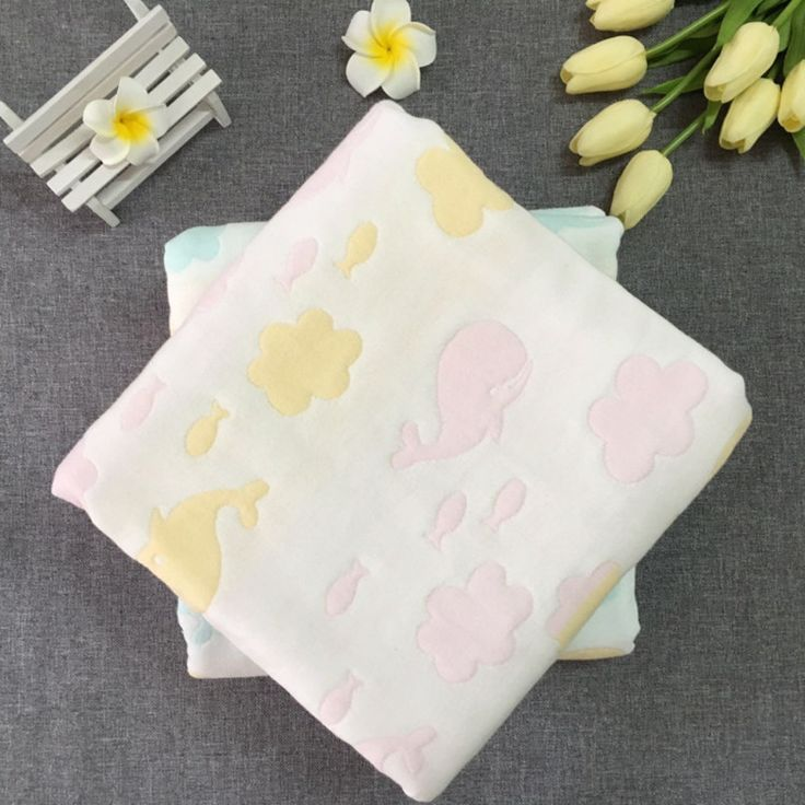 >> Click to Buy <<  Baby Blanket Cotton Swaddle Me Cozy Soft  4 Layers Gauze Wrap Baby Blankets Newborn Knitted Pattern Bath Towel Baby Bedding  #Affiliate