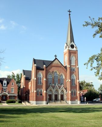 Lawrence Catholic Church - 820 East Charles, Muncie, IN. North Country  Unfading Black roofing slate, x x