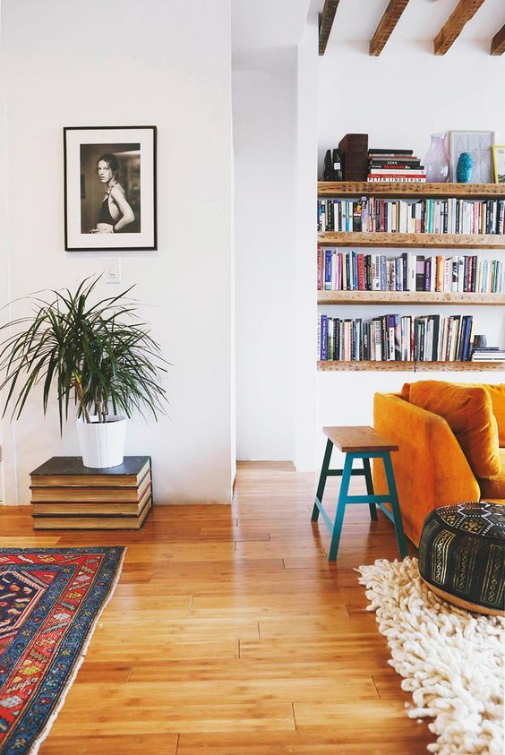 Beautiful Orange Sofa, Living Room Part 96