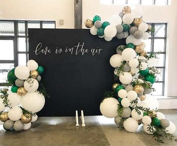 Partywoo Green Gold And Gray Balloons 60 Pcs 10 Inch Party Etsy