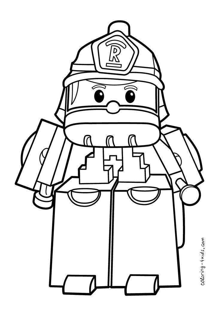 Robocar Poli coloring pages Roy