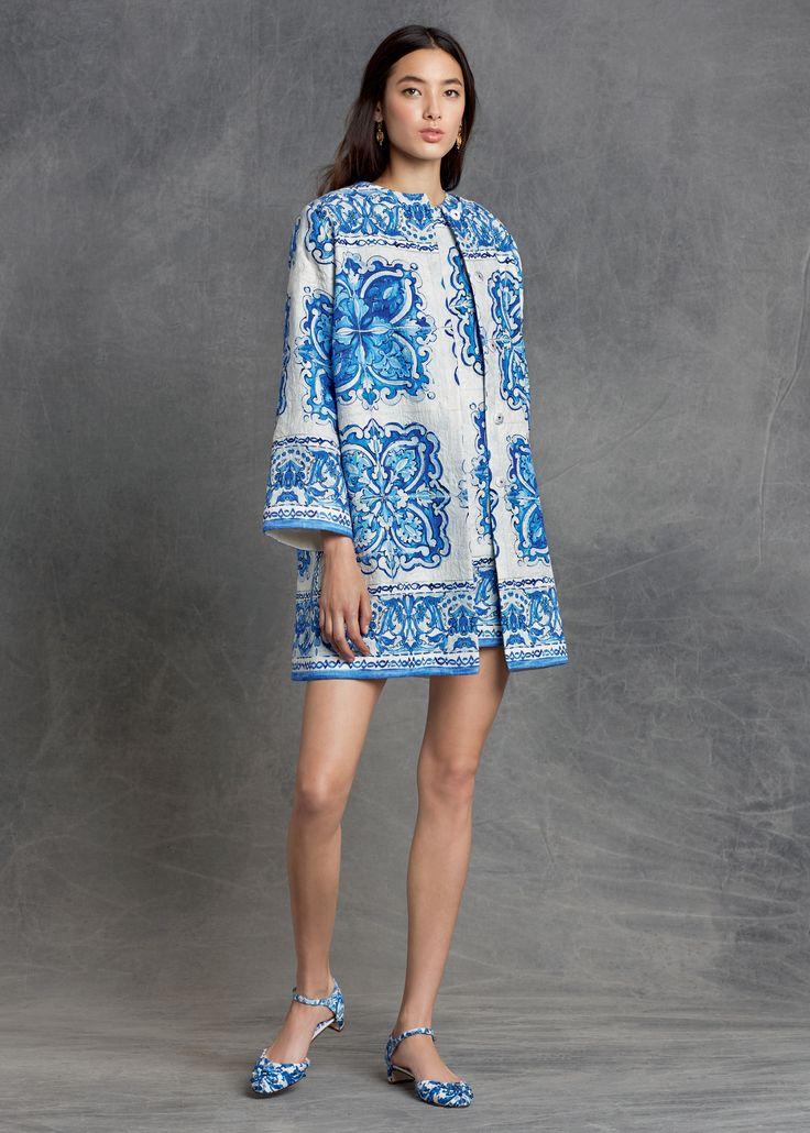Dolce&Gabbana Pre-Fall 2015 Majolica inspired looks.