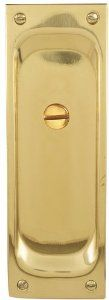 """Emtek 2105US3 Polished Brass Privacy 7-1/2"""" Height Solid Brass Privacy Pocket Door Mortise Lock by Emtek. $158.00. Emtek 2105 Privacy Polished Brass Pocket Door Lock Pocket Door Lock 7 1 2"""" Height Solid Brass Privacy Pocket Door Mortise Lock from the Door Accessories CollectionEmtek s pocket door locks and latches are as exquisitely and finely crafted as its regular line of locks and are made of the same beautiful and rugged materials With the privacy function the p..."""