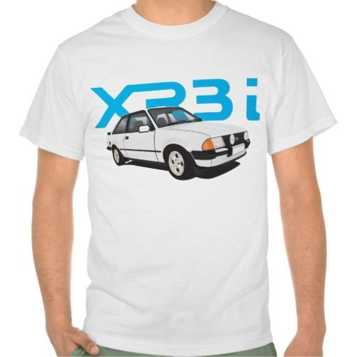 Ford Escort MK3 XR3i white DIY  #ford #escort #fordescort #mk3 #xr3i #tshirt #thirts #automobile #car #uk #80s