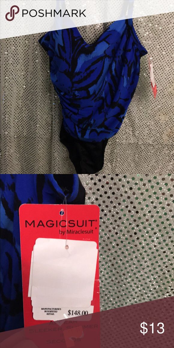 Miracle swimsuit slimming wear sz 10 wth tags wow Retails $145 in most nc stores wow this company's motto wth slim suit swim suit it instant slims you 10lbs with the slimming panels inside wow Miraclesuit Swim One Pieces