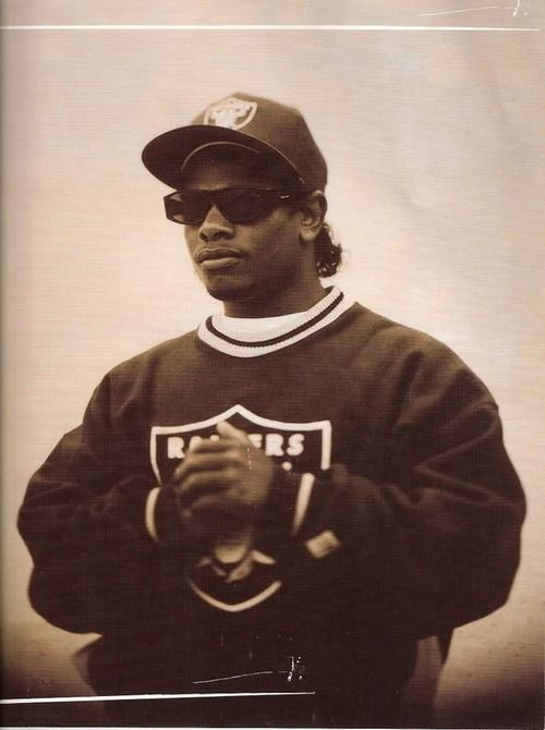 Eazy-E (E/S KPCC) in an iconic pose fit for a GoAT. #RIP #EazyE (Photo: c.1994) #NWA #hiphop